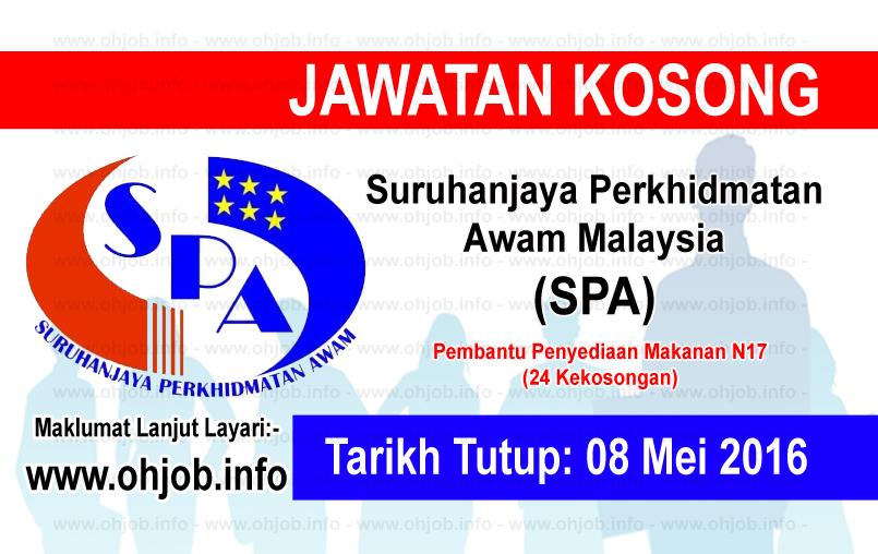 Jawatan Kerja Kosong Suruhanjaya Perkhidmatan Awam Malaysia (SPA) logo www.ohjob.info mei 2016