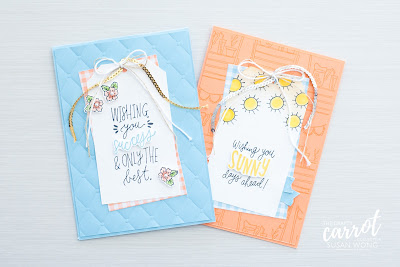 Sunny Days + Gingham Gala papers by Stampin' Up! - Online craft classes with The Crafty Carrot Co. - Susan Wong