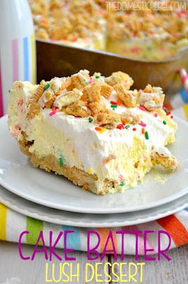 Cake Batter Lush Dessert