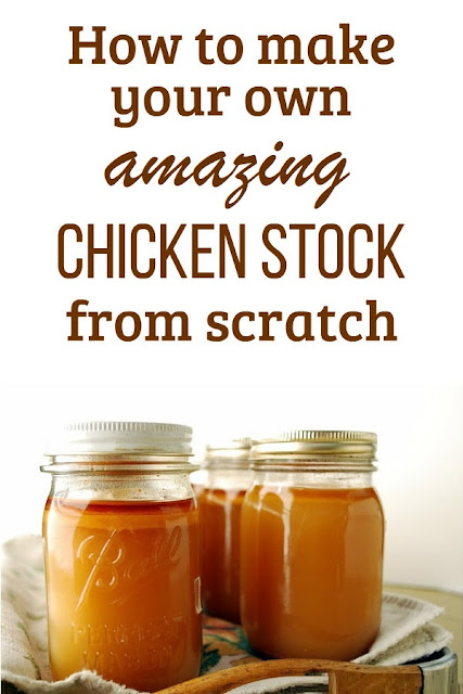 How to make chicken broth from scratch.