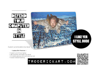 Laptop skins available at troderickart.com