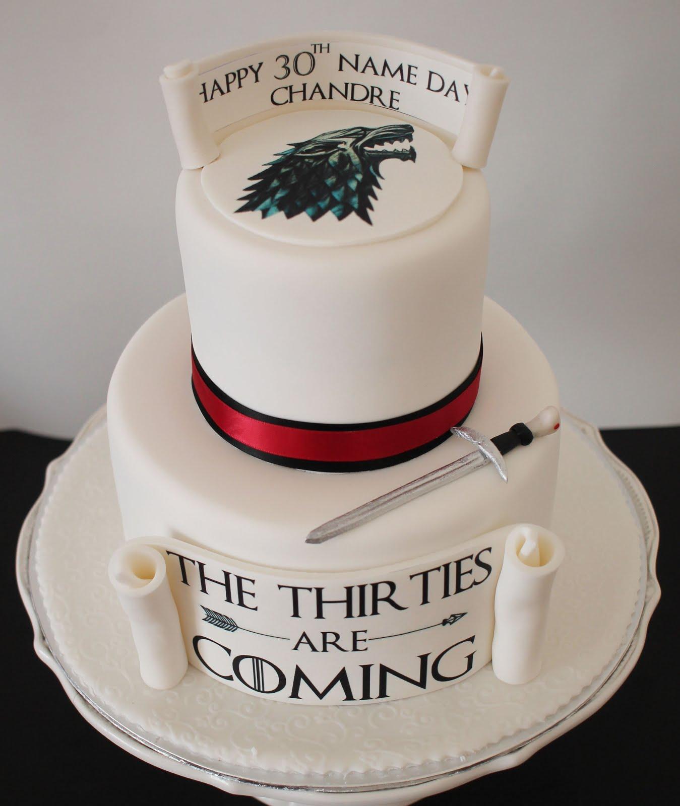 Stupendous Delanas Cakes Game Of Thrones Cake Personalised Birthday Cards Cominlily Jamesorg