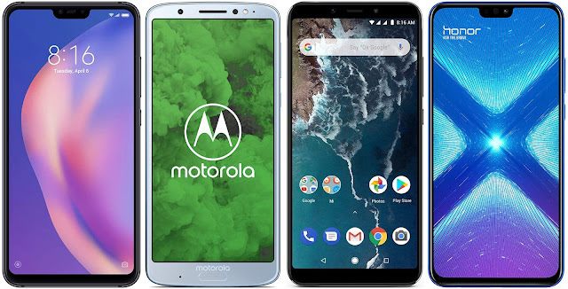 Xiaomi Mi 8 Lite 64G vs Motorola Moto G6 Plus vs Xiaomi Mi A2 64G vs Honor 8X 64 GB