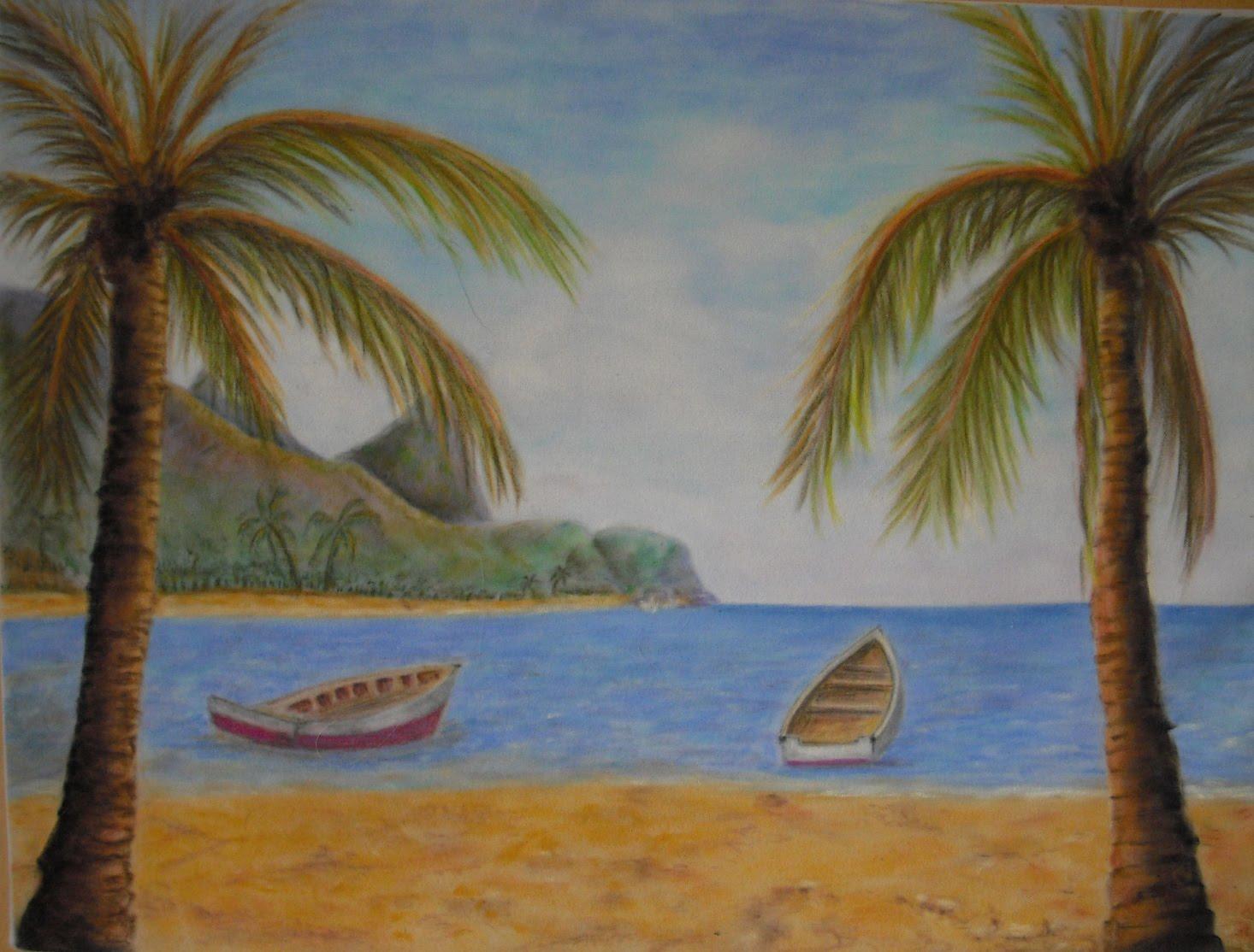 Como Dibujar Un Paisaje De Playa 6 Pasos Con Fotos Sokolvineyard Com