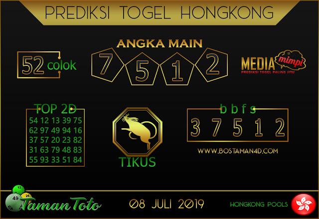 Prediksi Togel HONGKONG TAMAN TOTO 08 JULI 2019