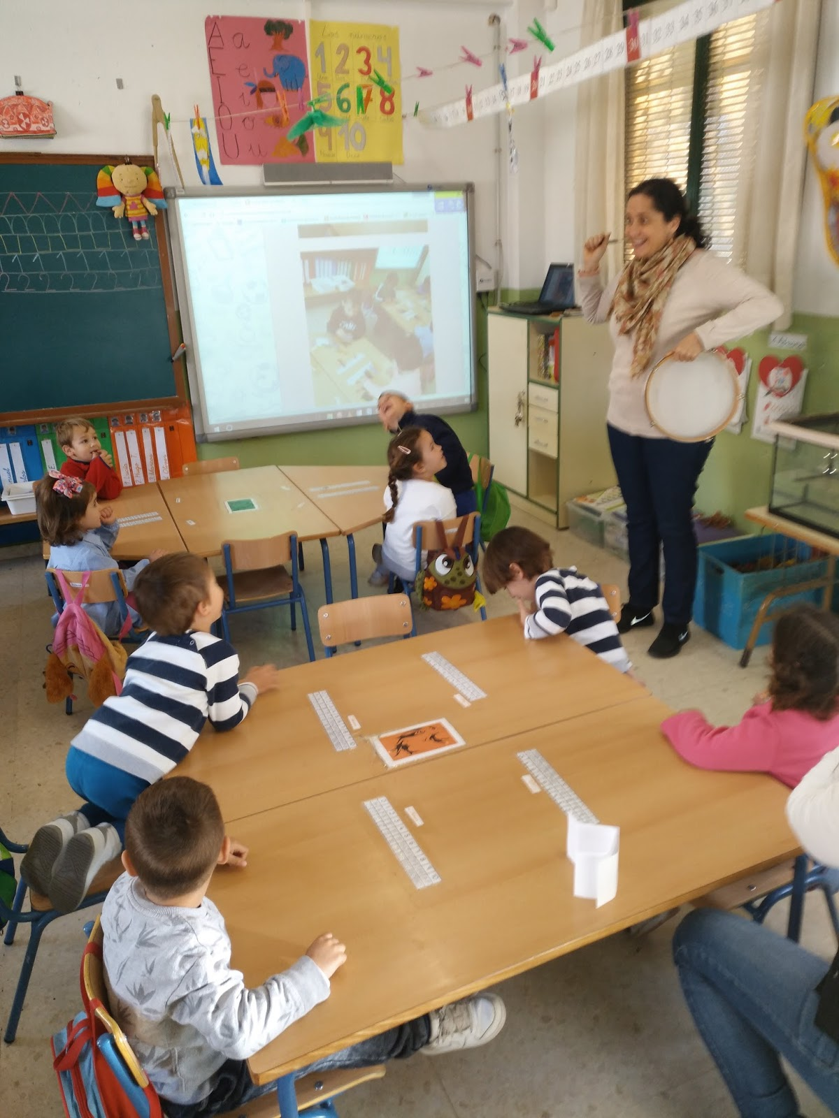 Profe rafa de infantil teresa simonet nos visita en for En nuestra clase