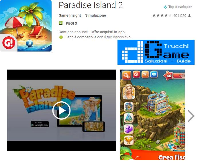 Trucchi Paradise Island 2 Mod Apk Android v6.1.0