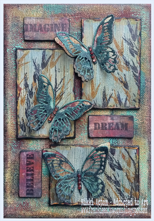 Tim Holtz inpspired canvas