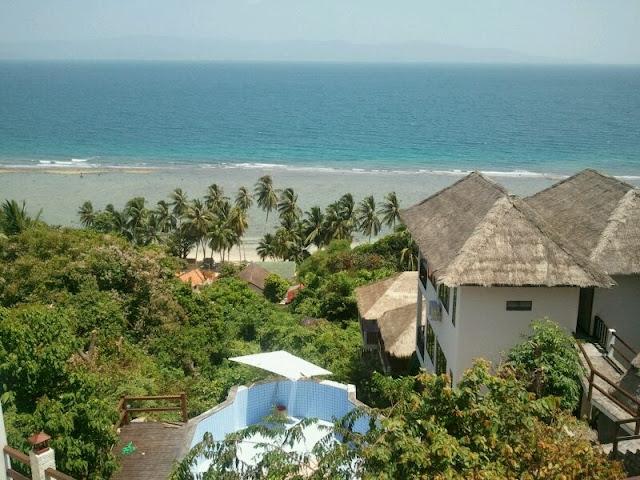 Vistas de una las guest house mas lujosas de la isla