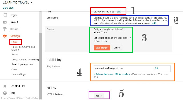 Blogspot-basic-settings