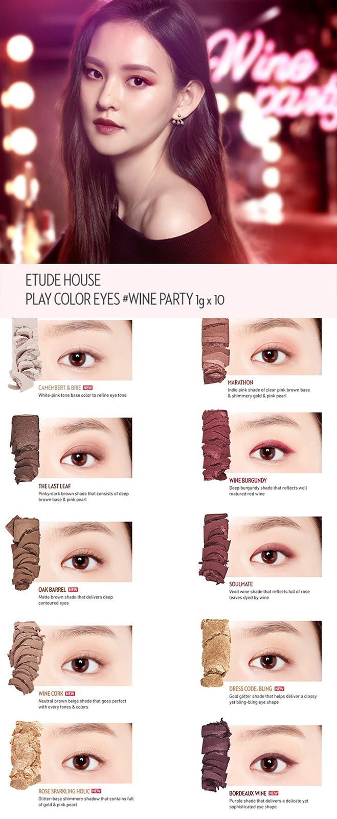 Ddalgi nana beauty etude house wine party shadow palette review official preview edited baditri Gallery
