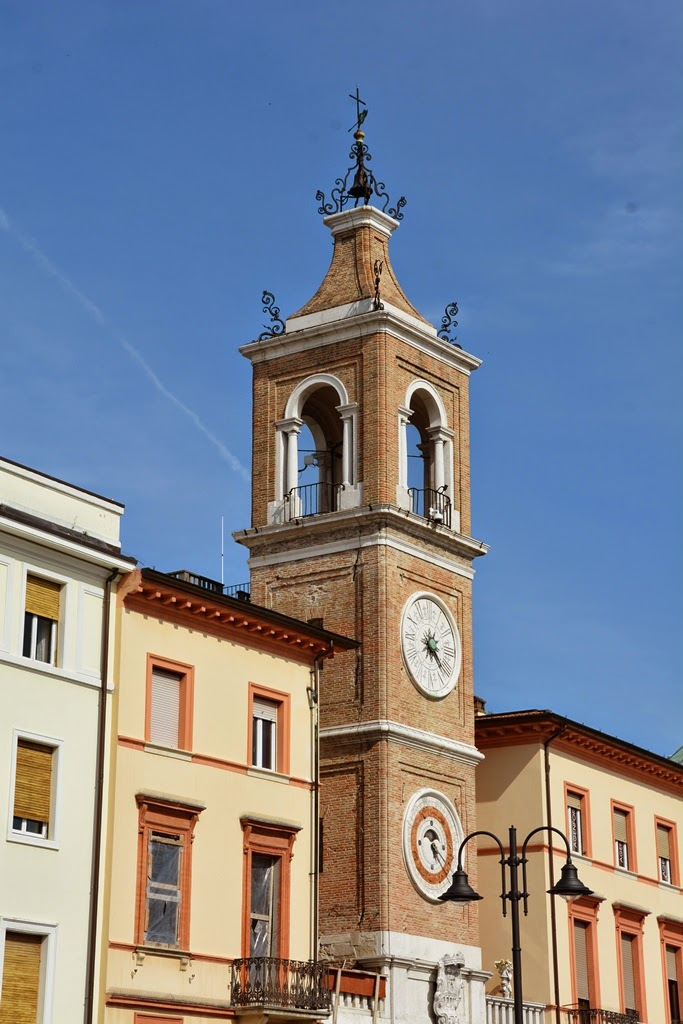 Piazza Tre Martiri Rimini church tower