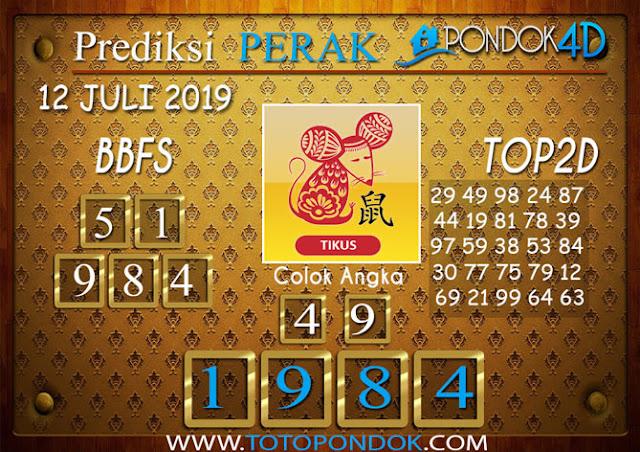 Prediksi Togel PERAK PONDOK4D 12 JULI 2019