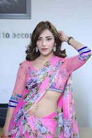 Actress Angela Krislinzki in Pink Saree Blouse Exclusive Pics March 2017 ~  086.JPG