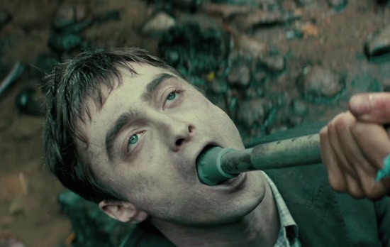 Daniel Radcliffe Uses His Boner Compass In 'Swiss Army Man