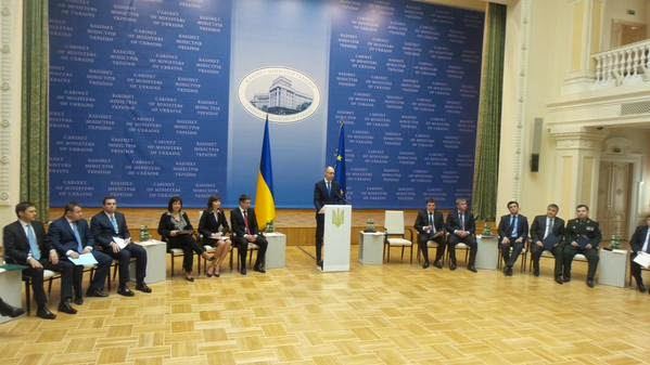 The coalition government of Yatsenyuk reported on the first 100 days of its activity