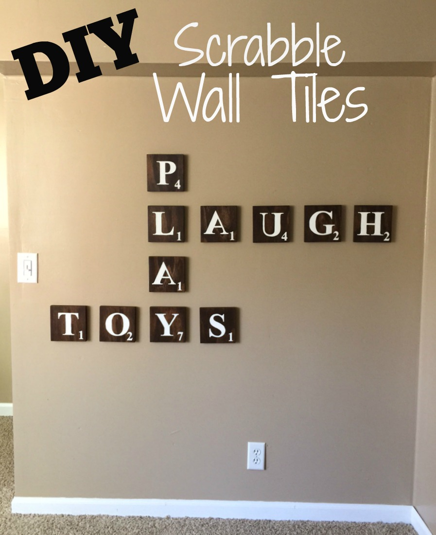 DIY Scrabble Wall Tiles | Rachel & Co.