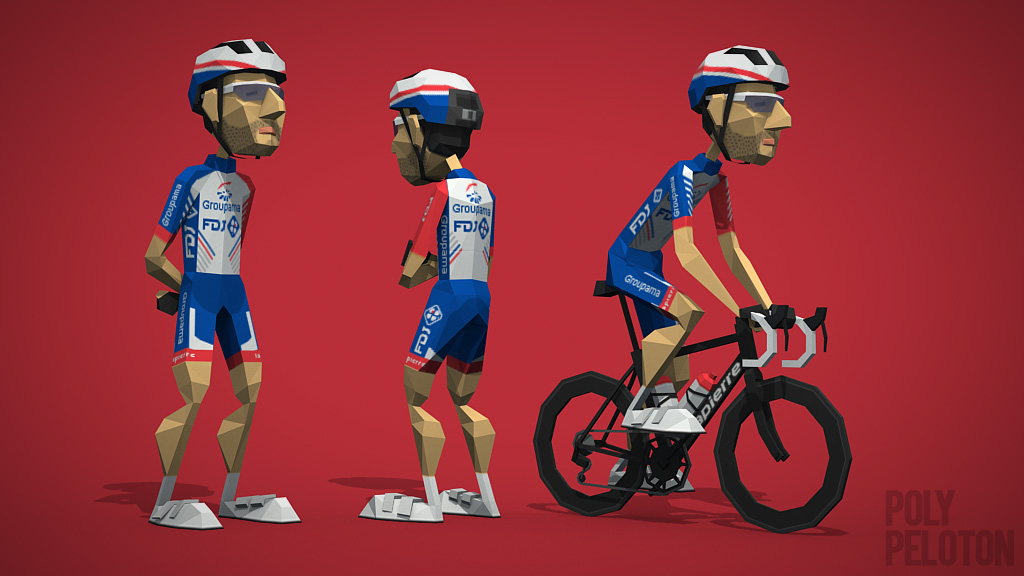 Poly Peloton  2018 Kit   Groupama-FDJ 3baca55b1