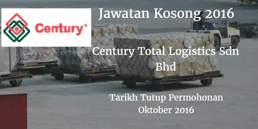 Jawatan Kosong Century Total Logistics Sdn Bhd Oktober 2016