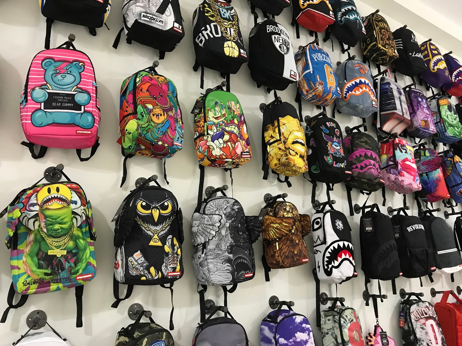 171b0e096 ... Sprayground pop-up shop in soho, NYC. I had the opportunity to check it  out on the opening day and even got a bag that was sold out online for a  really, ...