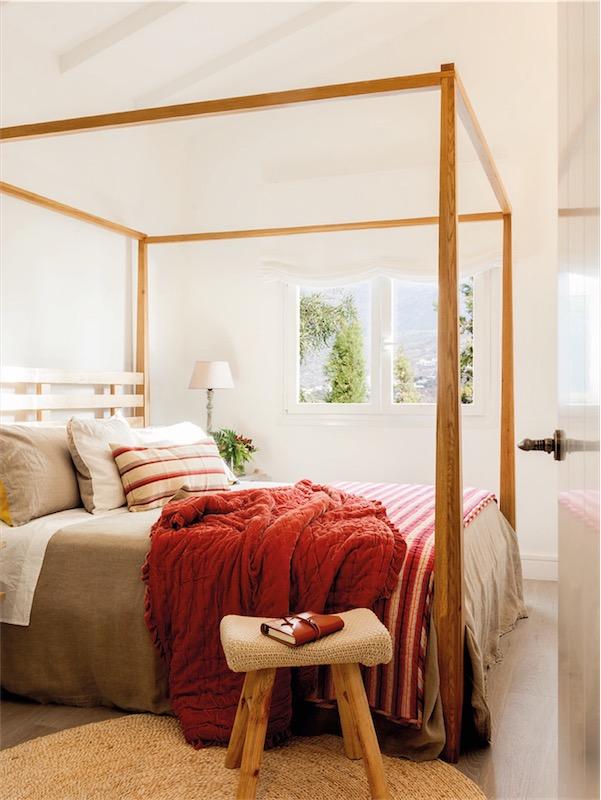 cama con dosel de madera chicanddeco