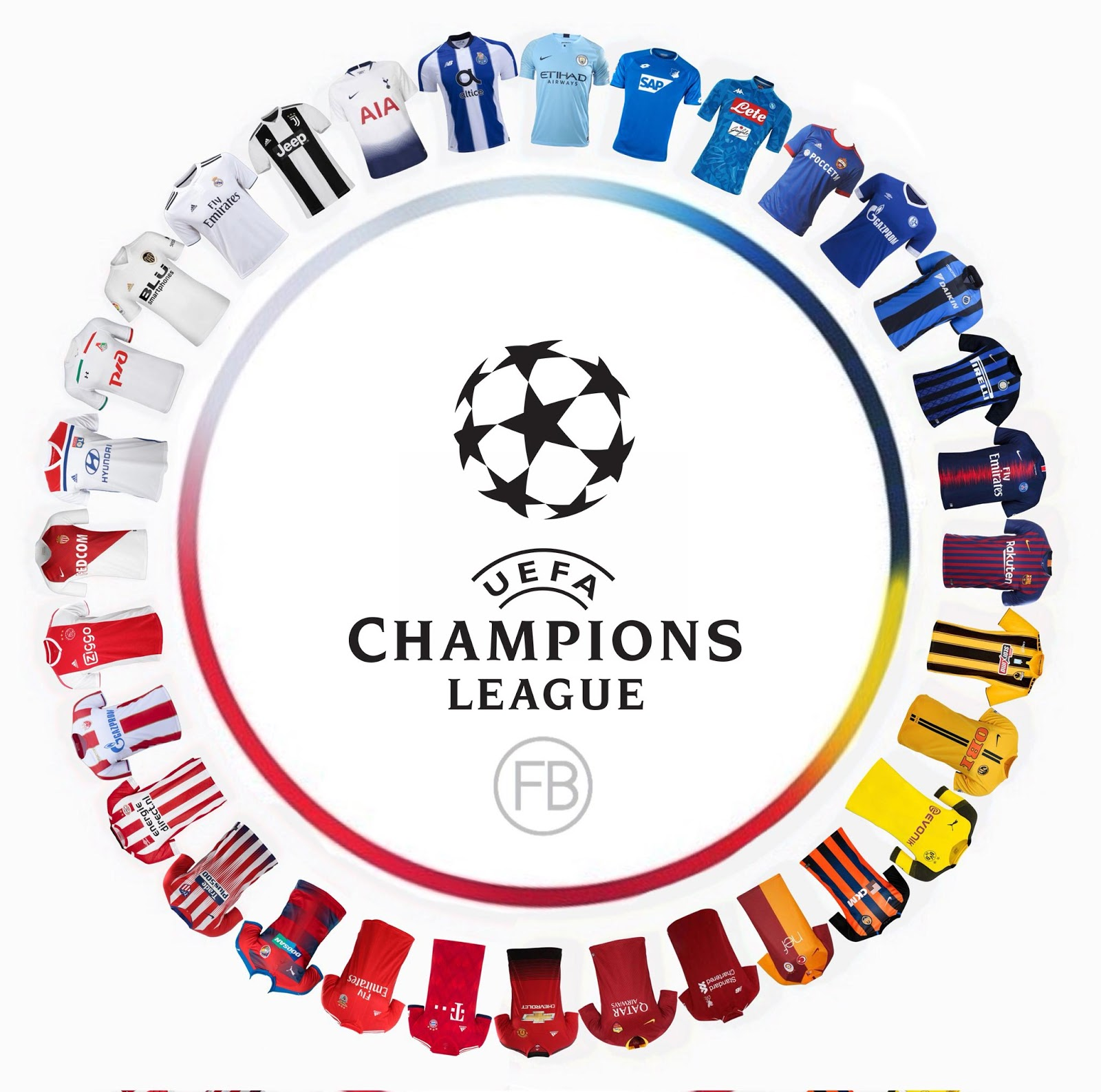 Champions League Group Stage 2020: OVERVIEW: All 32 Teams' 18-19 Champions League Kits