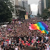 """Segundo organizadores, """"Parada do Orgulho LGBT"""" teve 3 milhões de pessoas"""