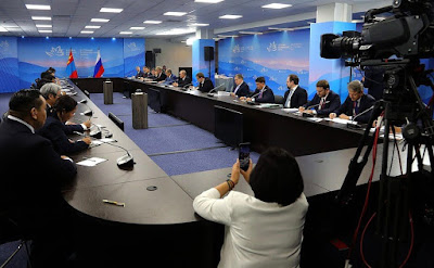 Russia - Mongolia talks in Vladivostok.