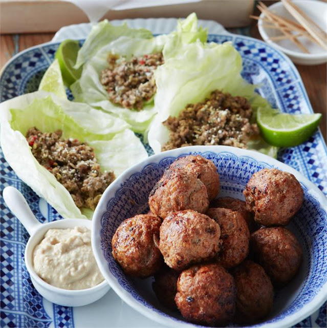Middle Eastern lamb meatballs recipe