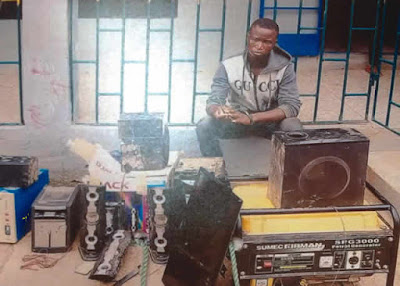 Photo: Man Burgles Female Boss' Shop, Steals Her Property
