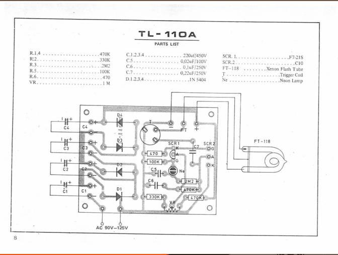 electronic strobo light tl