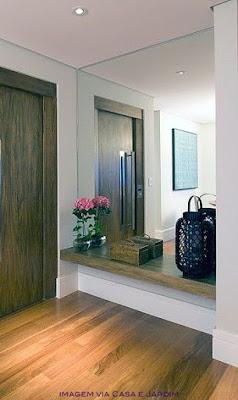 prateleira madeira rústica para hall de entrada