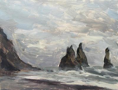 #109 'Reynisdrangar Vik, Iceland' 7×9.5″
