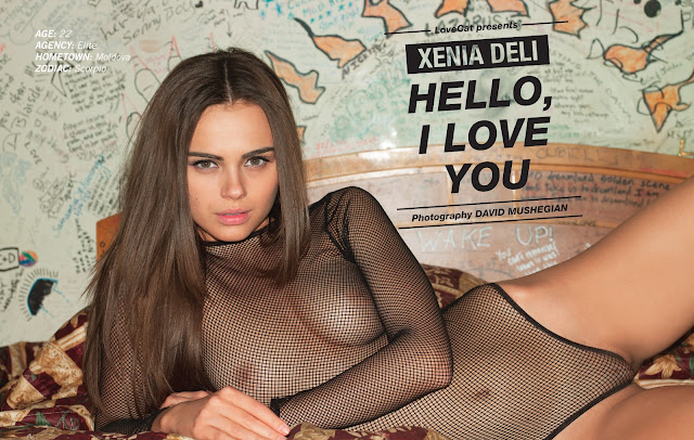 Xenia Deli Get Naked And Show Her Hot Clam For LoveCat Magazine