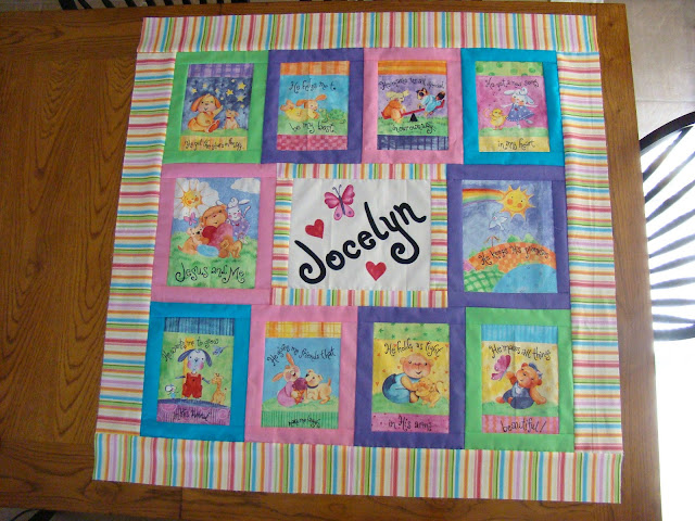 Fabric book panel quilt