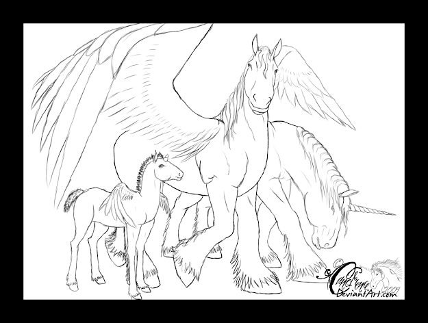 Hope To Do Some Kind Of Coloring Of This Lol Im Sorry About The  Sketchiness  Su Pegasus Family