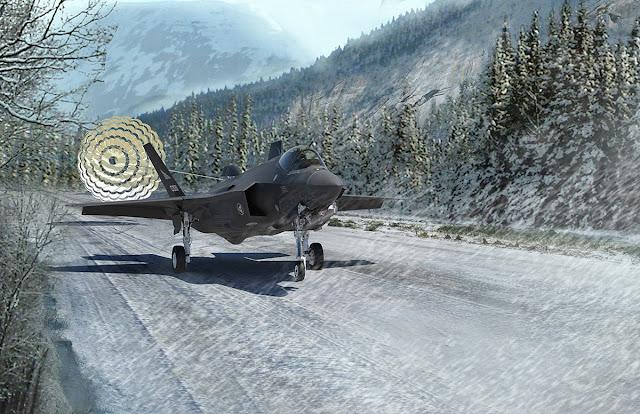 Norwegian F-35 drag chute test
