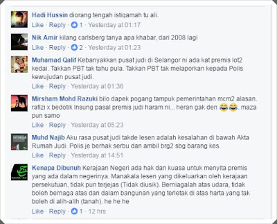 Stastistik Pusat Judi Haram Di Selangor