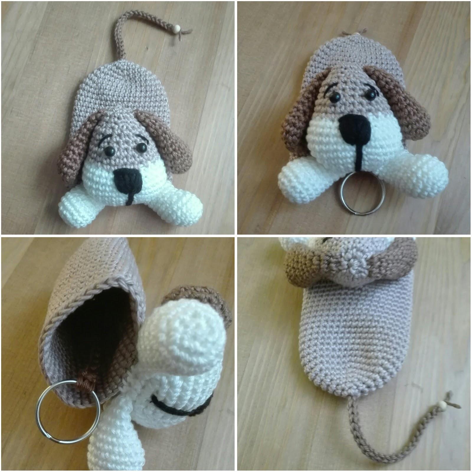 Sils Corner Patroon Sleutelhangerhoesje Hond