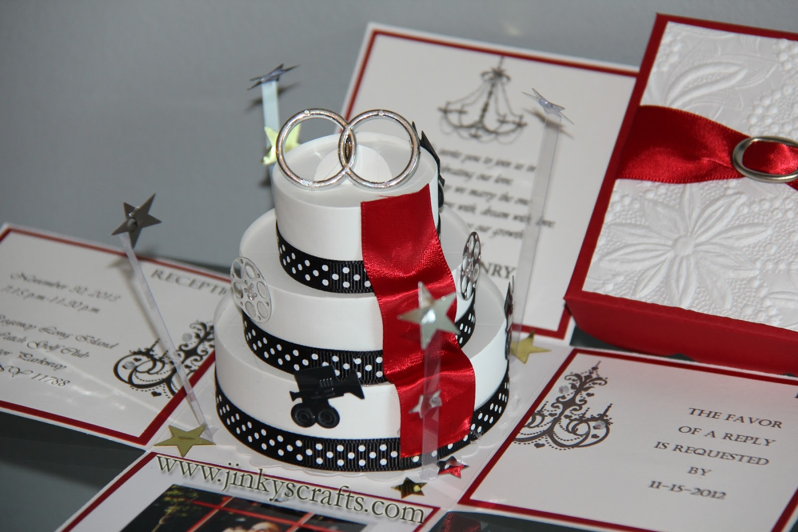 Different Wedding Invitations Ideas: Jinky's Crafts & Designs: Hollywood Themed Wedding Invitations
