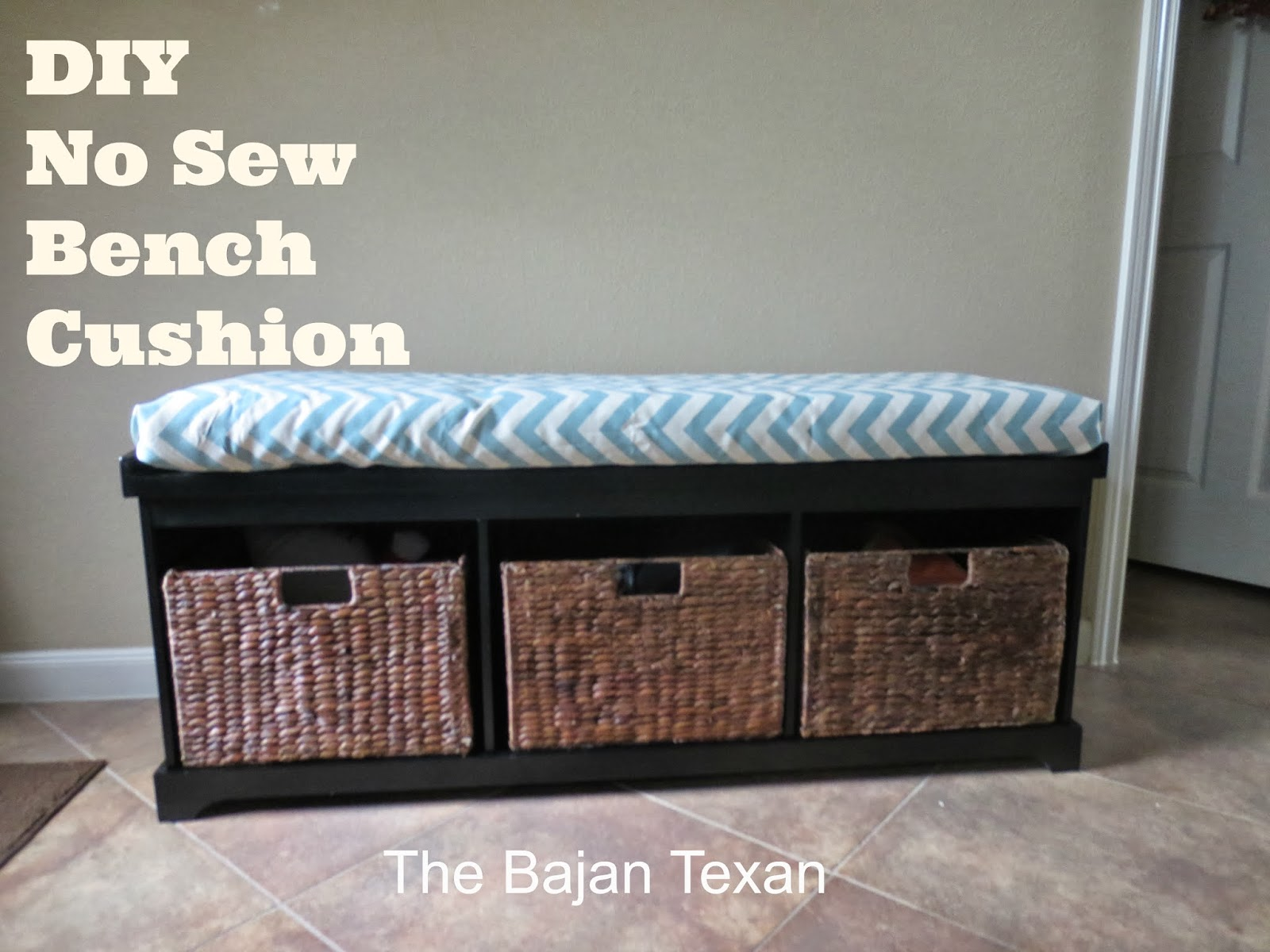 diy chair cushion no sew office support bench or window seat  the bajan texan