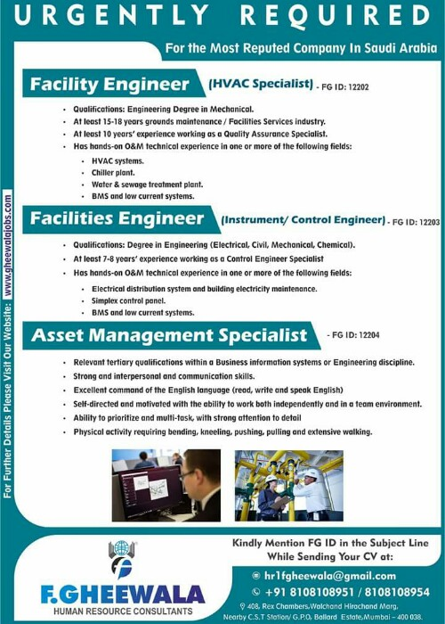Facility - Asset Management (HVAC and Instrument Control) Engineer ...