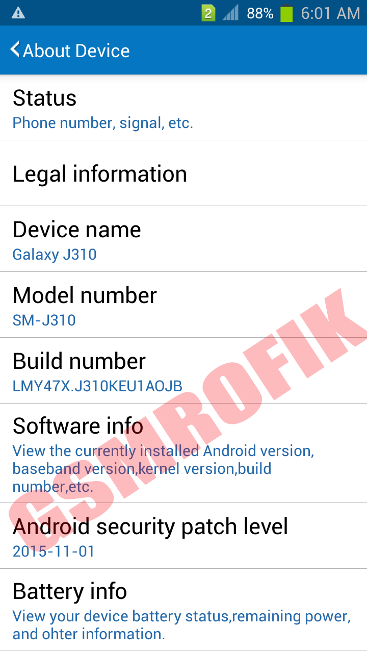 Samsung Clone SM-J310H/DS MT6572 Firmware Flash File