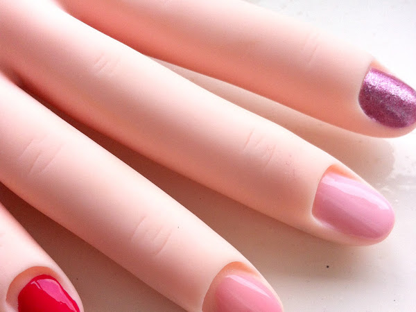 Pretty, Pink and Red Polishes