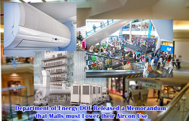 Department of Energy DOE Released a Memorandum that Malls must Lower their Aircon Use