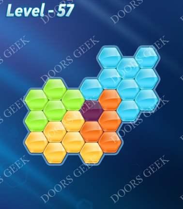 Block! Hexa Puzzle [5 Mania] Level 57 Solution, Cheats, Walkthrough for android, iphone, ipad, ipod