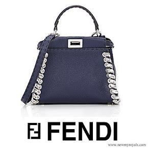 Queen Rania carried FENDI Peekaboo Mini Satchel