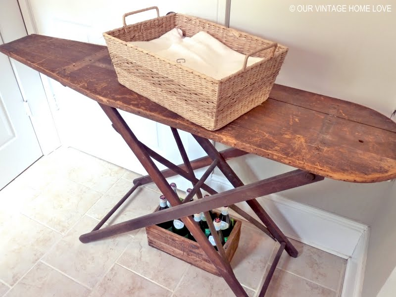 Vintage Home Love Laundry Room Ideas And A Vintage Ironing Board