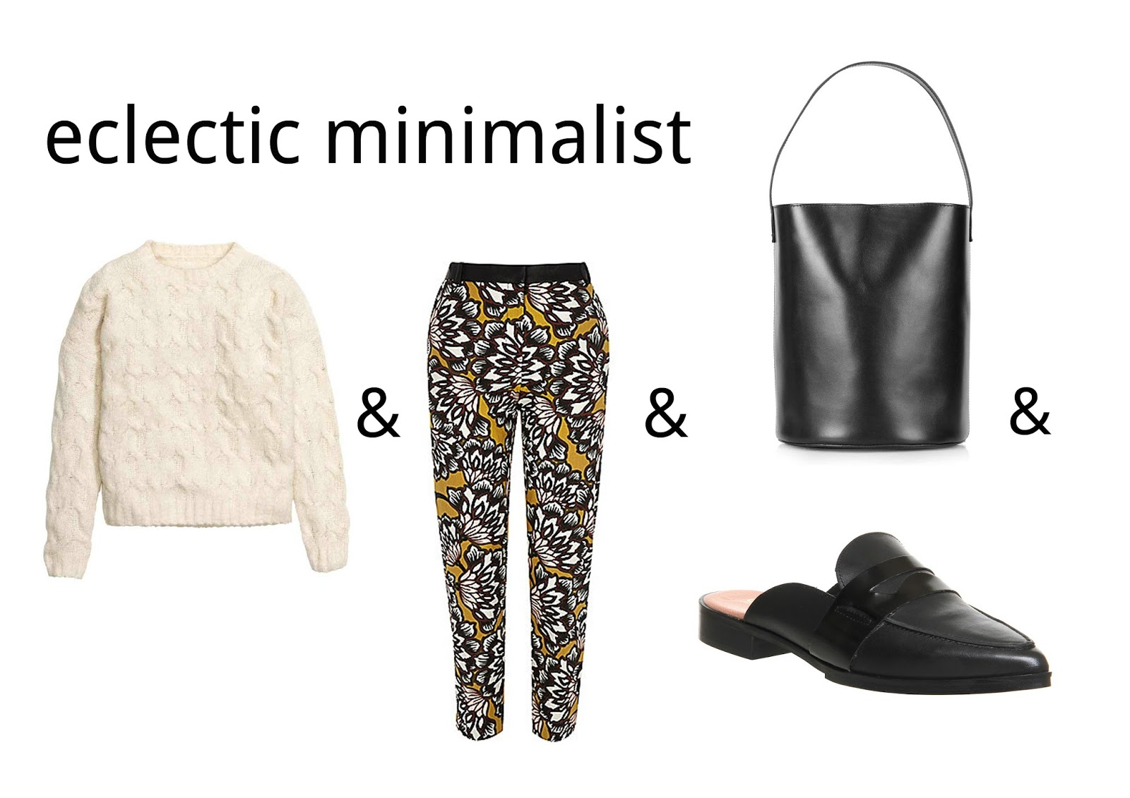fashion maths printed trousers knitted jumper H&M topshop river island