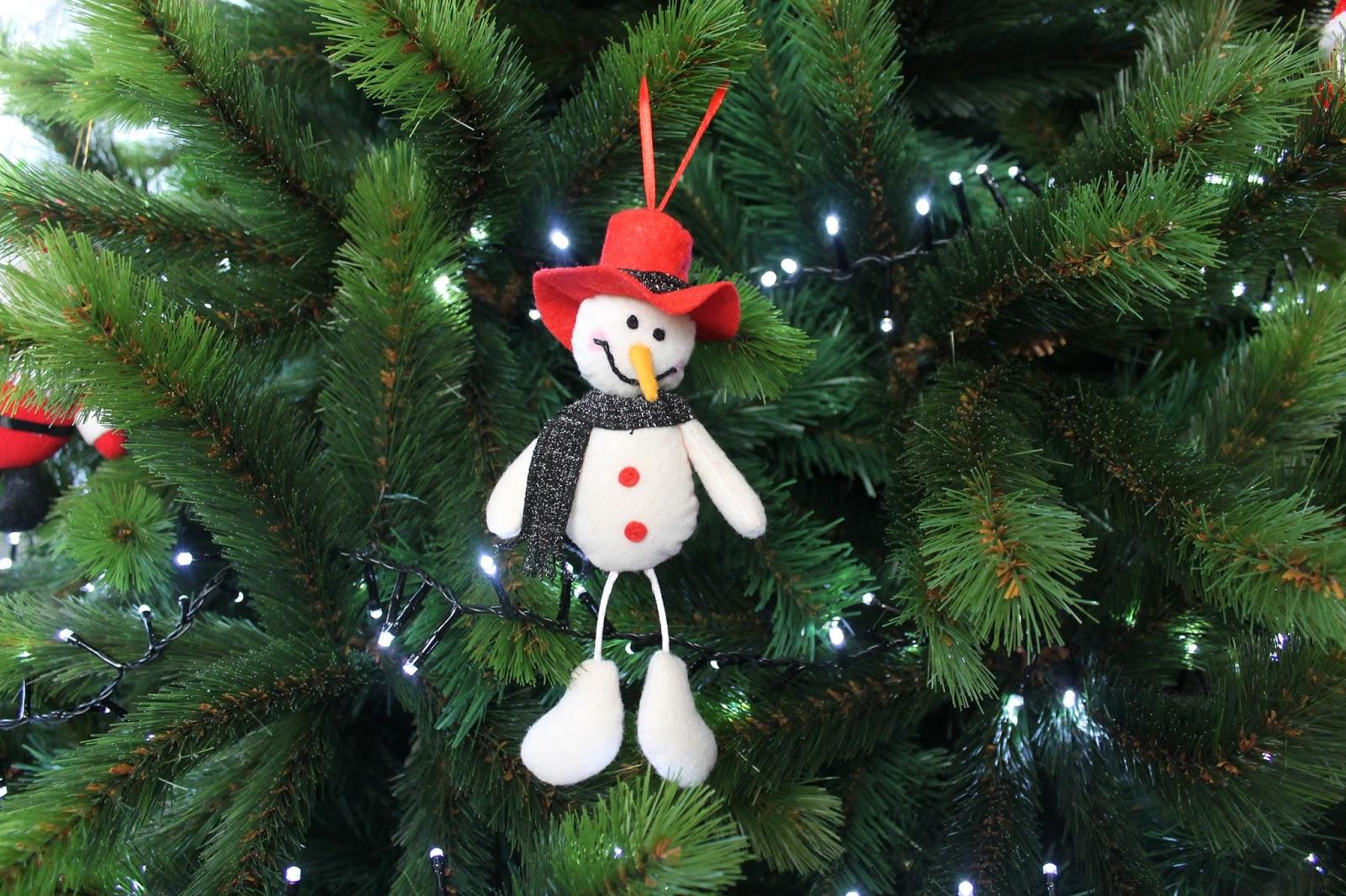 O obradoiro de Klor: Muñeco de nieve, adorno para el árbol de ...